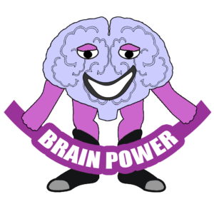 lifemight self-help super hero mascot brain power cartoon character