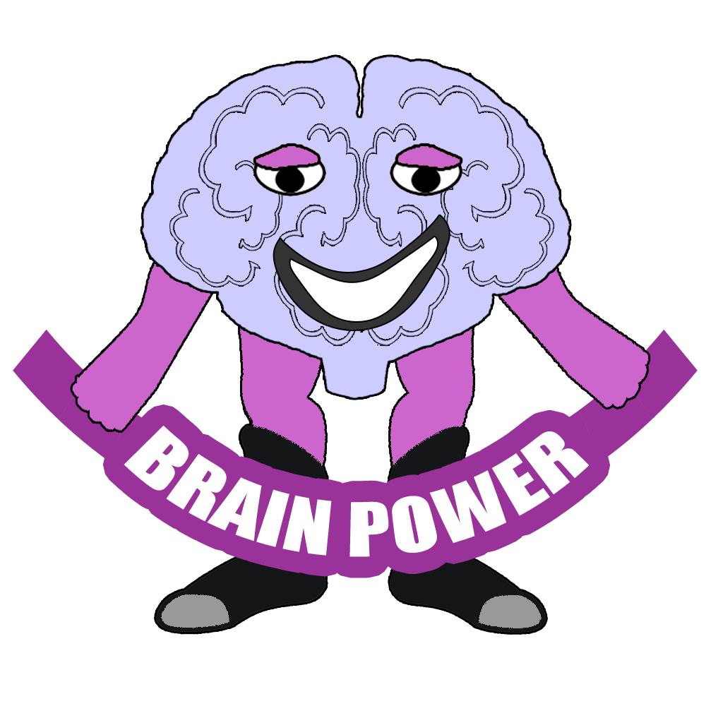 brain power cartoon character