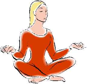 lady yoga clipart