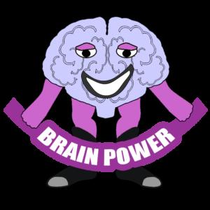 lifemight self-help super hero mascot brain power cartoon character